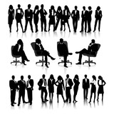 Fototapety business people silhouettes