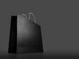 Glaze shopping bag on black background