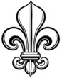 Fleur De Lis Vector Linework Illustration