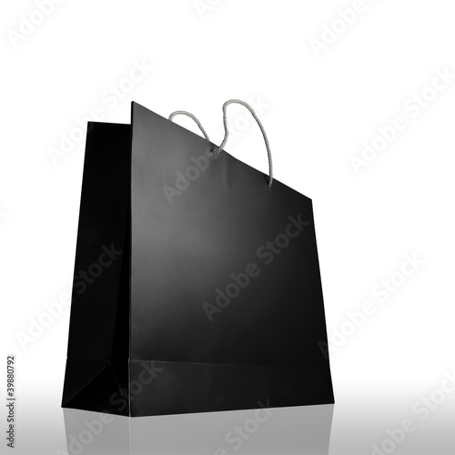 Glaze shopping bag isolated
