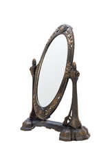 Oval antique frame. Isolated image.