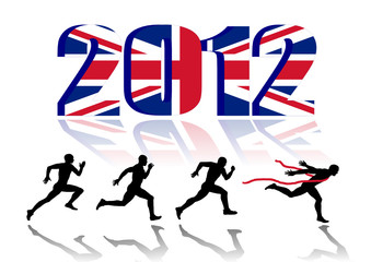2012 Union Flag and Sprinters. vector file