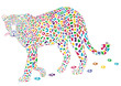 farbenfreudiger Leopard