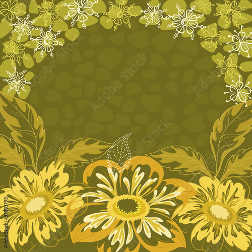 Floral background, dahlia