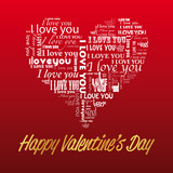 "Happy Valentine's Day ""I love you"""