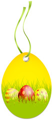 Hangtag Easter Eggs Yellow/Green/Red