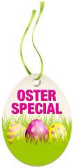 Hangtag Osterspecial Ostereier grün/pink