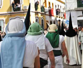 Costaleros, procesión de Semana Santa