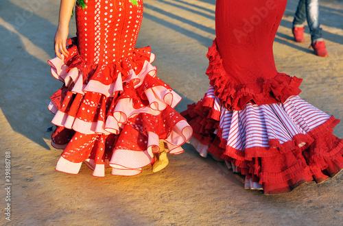 Mujeres con trajes de gitana, Feria