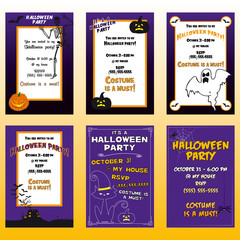 Halloween invitations party