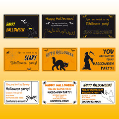 Halloween greeting cards and invitations