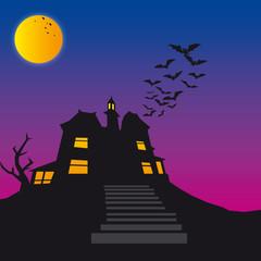 Halloween scary house