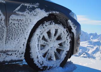 Eingefrorenes Auto