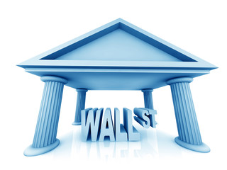 3d concept of Wall Street