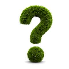 Grassed question symbol