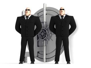 guard and vault door