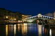 Rialto bridge at dusk in Venice