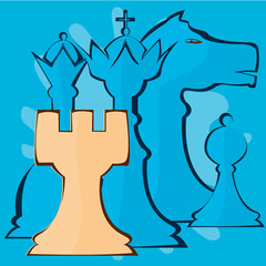 Vector image of chess pieces