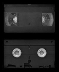 VHS video cassette both sides