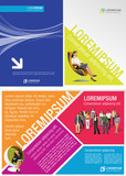 Fototapety Colorful template for advertising brochure with business people