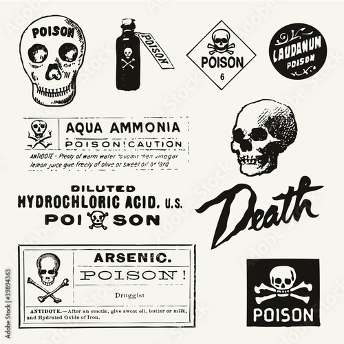 Poison Vintage Labels