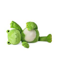 stoffpuppe grüner frosch