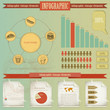 Vintage infographics set - fast food theme