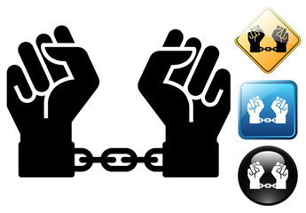 Slave pictogram and icons