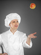 Young female chef