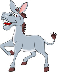 Smiling donkey cartoon
