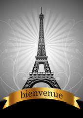 bienvenue a paris - vector template