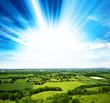 sunlight green fields