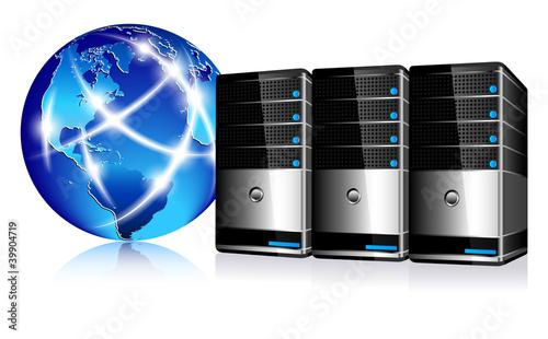 Servers and communication Internet World