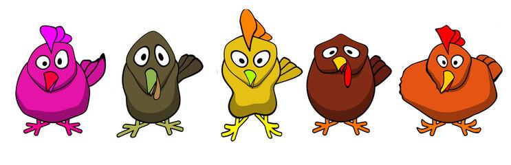 Ugly bird cartoons computer art