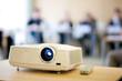 video projector in meeting room
