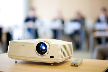 video projector in meeting room