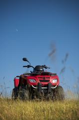 Red quadbike