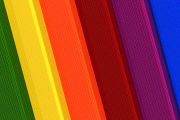 3d rainbow elements