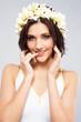 Beautiful woman in flower crown