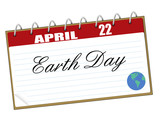 Earth Day calendar page poster
