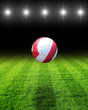 fussballfeld beleuchtet mit ball