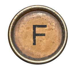 Font consisting of keys of a typewriter