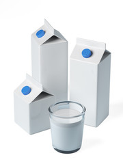 Milk box isolated