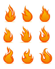 Fire warning symbols