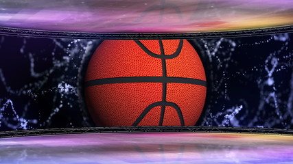 Basket Ball in Monitor and Room - HD1080