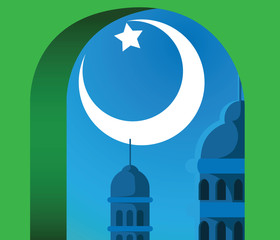 illustration Islamic pattern for Muslim celebration