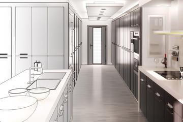 Küchenkonzept I (Zeichnung)