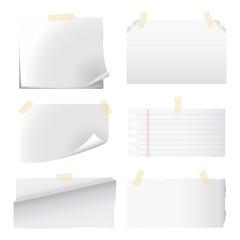 set of white paper