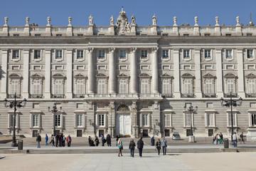 Fachada del Palacio Real en Madrid