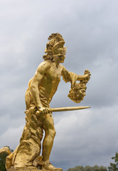 Perseus with the head of the Gorgon Medusa. Peterhof, Russia